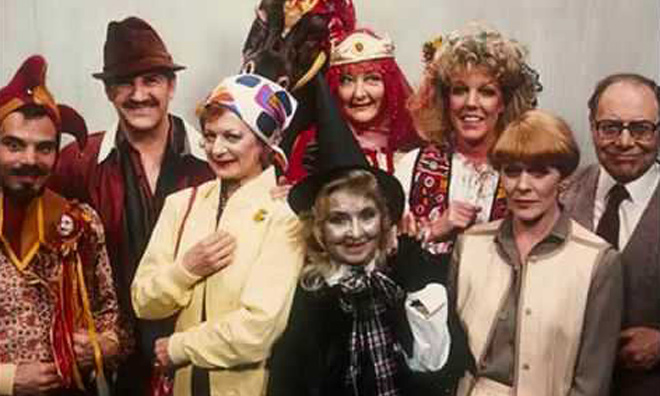 Mr Claypole with a selection of friends, some of whom are dead