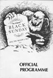 Black Sunday 4 programme front cover