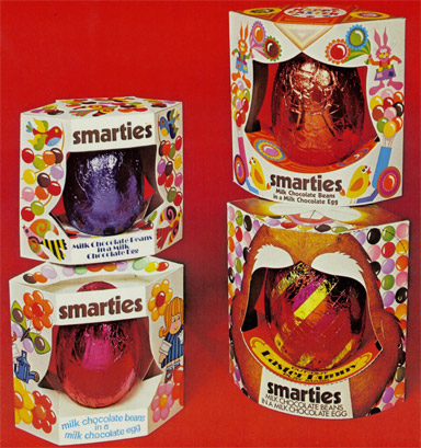 Smarties easter egss from the 70s