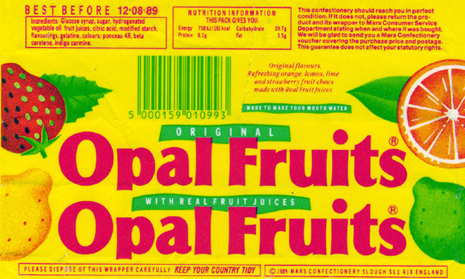Traditional Opal Fruiots Wrapper