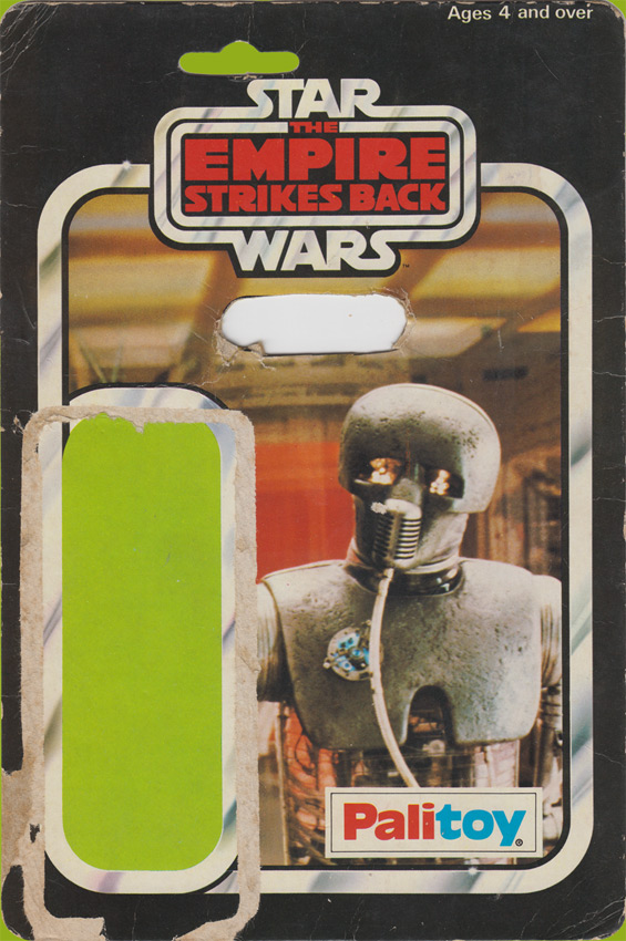 Too-Onebee (2-1B) vintage The Empire Strikes Back action figure card back