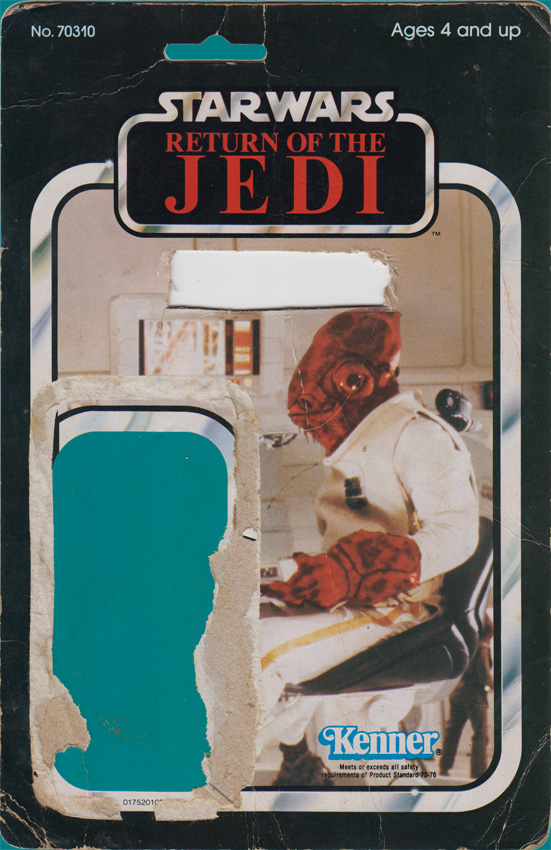 Admiral Ackbar vintage Return of the Jedi action figure card back