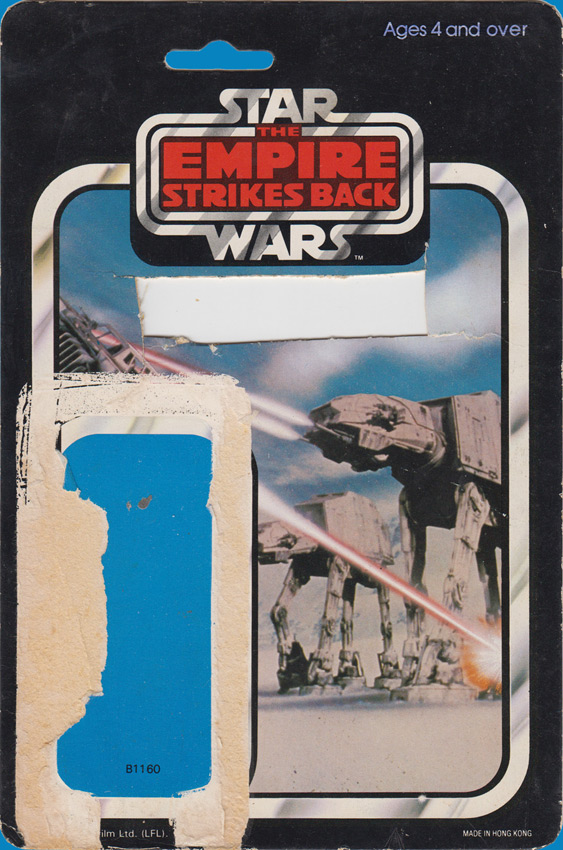 AT-AT Commander vintage The Empire Strikes Back action figure card back