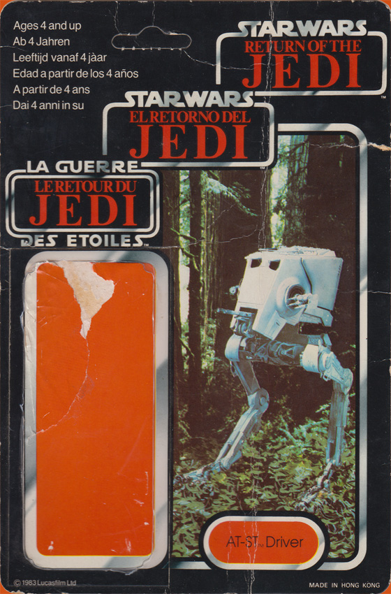AT-ST Driver vintage Return of the Jedi action figure card back