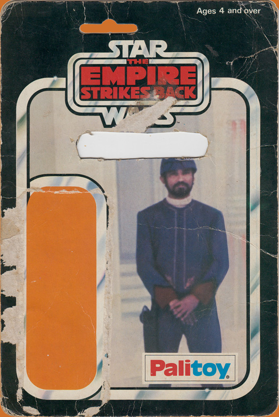 Bespin Security Guard vintage The Empire Strikes Back action figure card back