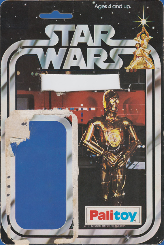 See-Threepio (C-3PO) vintage Star Wars action figure card back