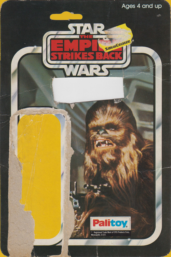 Chewbacca vintage Star Wars action figure card back