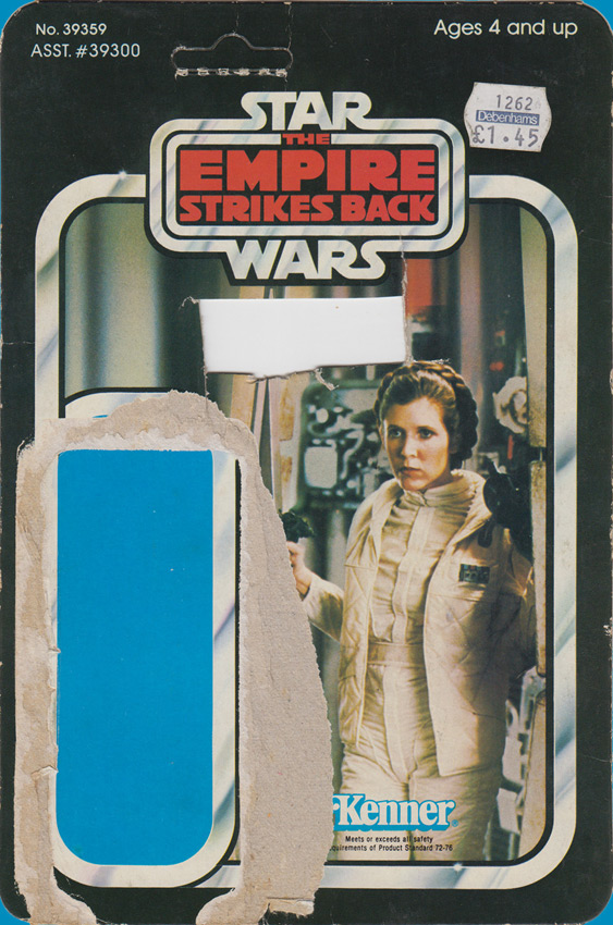 Leia vintage The Empire Strikes Back action figure card back