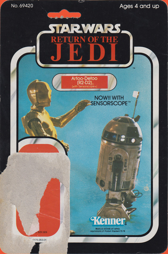 Artoo-Deetoo (R2-D2) vintage The Empire Strikes Back action figure card back