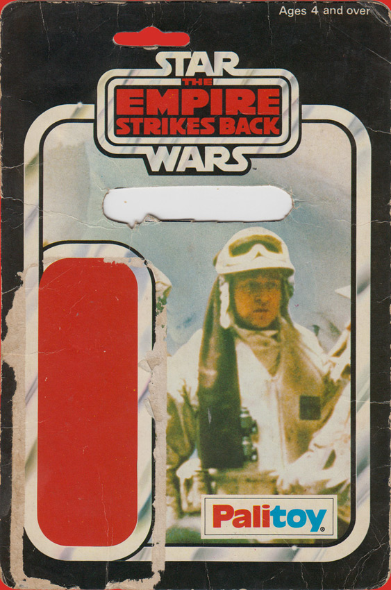 Rebel Commander vintage The Empire Strikes Back action figure card back