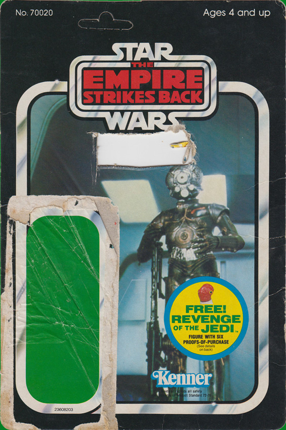 Zuckuss vintage The Empire Strikes Back action figure card back